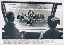 1963 Student Nurses in Cross Formation Sing Hymns at Window Atlanta Press Photo