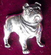 Pewter English Bull Dog Brooch Pin  Quality