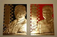 Set of 2 - DALE EARNHARDT SR & JR 1999 Gold Cards Matching Serial Numbers