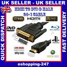 2m mètre HDMI vers DVI-D 24 +1 broches câble numérique HD pour TV LCD vrai ciel Bluray A120