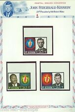 RAS AL KHAIMA  MEMORIAL TRIBUTES J.F. KENNEDY ABE LINCOLN ML KING,JR SETS &S/S
