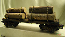 2 Logging Car - custom weathered, handcrafted - beautiful looking - lot A2     O