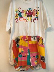 Rare Vintage Mary quant Shorts / T Shirt Set