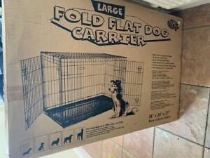 Pet Brands Ltd Large Fold Flat Dog Crate / Carrier