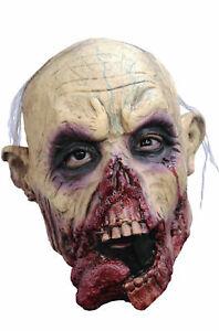 Junior Latex Walking Dead Zombie Horror New Overhead Halloween Fancy Dress Mask