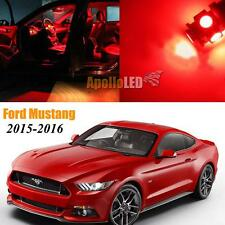 Full Red LED Lights Upgrade Interior Package For 2015-2016 Ford Mustang