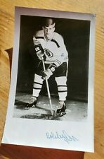 Bobby Orr Autographed Black and White Photo