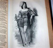 1869 Antique Works of WILLIAM SHAKESPEARE Engravings , Romeo Hamlet Macbeth etc.