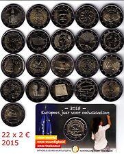 2 € Conmemorativa 2015, Luxemburgo, Malta, Bélgica, Portugal, Finlandia, Grecia.