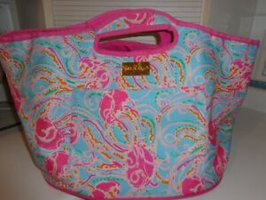 Lilly Pulitzer Insulated Bucket Beach Tote XL Jellies Be Jammin