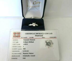 BAGUE MODERNE DIAMANT /ancient-cut diamond of 1.06 carat.