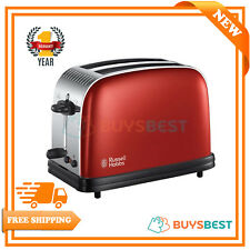 Russell Hobbs Colour Plus Frozen Bread Function 2 Slice Toaster, Red - 23330