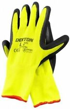 Hi Vis Working Gloves Foam Grip Latex Gardening Protective Safety 10/XL UK SALE