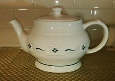 New ListingLongaberger Pottery Teapot & Lid Woven Traditions in Ivory & Blue Euc
