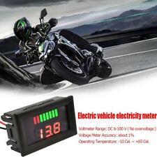 LED Digital Voltmeter 12V-60V Car Marine Motorcycle Voltage Meter Battery Gauge