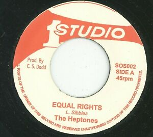 """"""" EQUAL RIGHTS."""" the heptones. STUDIO ONE 7in."""
