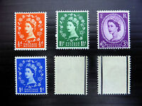GB 1957 Wilding Stamps Set~(6) Graphite~Unmounted Mint~UK Seller
