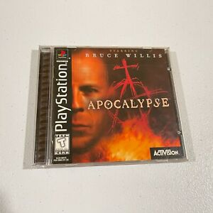 CIB Apocalypse Starring Bruce Willis (Sony PlayStation 1 PS1, 1998) COMPLETE
