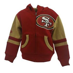 San Francisco 49ers Official NFL Children's Youth Kids Size Full Zip Sweatshirt