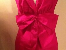 KATE SPADE $395 Blaine Bow lined SILK Dress in Pinky Purple, 6 NWOT NEW