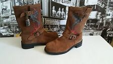 Ed Hardy Leather Boots Cobra Heavy Duty Toe Motorcycle  US 10 / UK 9 EU 43