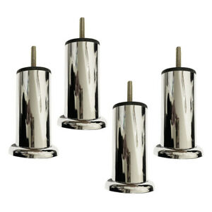 CHROME METAL FURNITURE LEGS DIVAN,SLEIGH,SOFA,AVAILABLE IN  4, 6, 8, 12, 16 & 20