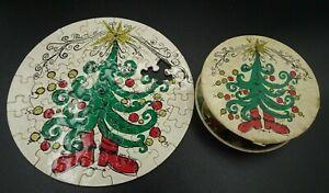 "Vtg 1969 Springbok Mini ""Holiday Thingies""/  ""A Loaf of Fruitcake"" 7"" Puzzle"