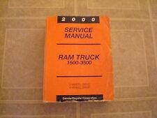 2000 DODGE RAM TRUCK 1500 2500 3500 DIESEL WORK SHOP SERVICE REPAIR MANUAL BOOKS
