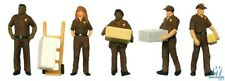 UPS Delivery Personnel Figure Set HO - Walthers SceneMaster #949-6043 vmf121