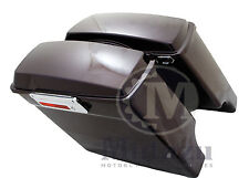 Black Cherry Fat Ass Wide Extended Stretched Hard Saddlebag  Harley HD Touring