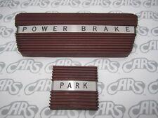 1961-1964 Buick LeSabre Wildcat Riviera Electra Brake & Park Brake Pads  - Red