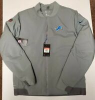 Nike Shield Detroit Lions Bomber Jacket NFL Grey AH7759-039 Men Sz Large L $200