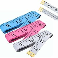 Choice Dual Sided Body Measuring Ruler Sewing Cloth Tailor Tape Soft Tape for Family Measure Chest//Waist Circumference 60inch//150cm White