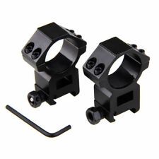 2pc High Profile 30mm Ring 21mm Picatinny Weaver Rail Scope Mount For RifleScope