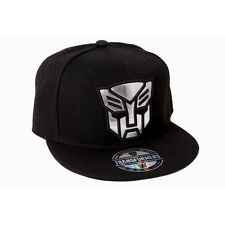 OFFICIAL TRANSFORMERS AUTOBOTS SHINY GREY SYMBOL BLACK SNAPBACK CAP (BRAND NEW)