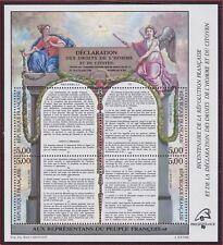 1989 FRANCE BLOC N°11** BF DECLARATION des DROITS de l'HOMME vendu à faciale MNH