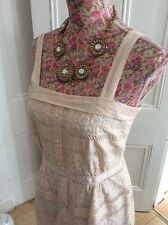 Monsoon Ivory Marilyn Broderie Anglaise Dress Size 18 Ic Posting Daily
