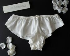 Ivory Bridal Bride Silky Satin Micro French Knickers sexy lingerie panties