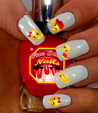 Emoji Nail Art Decals. Nail Decals with Smiley Faces and Hearts.ESF003-43