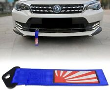 1x Japanese Rising Sun Pattern Tow Strap Front Rear Bumper Towing Hook Tow Ropes