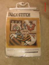 """Quick-Stitch Pillow Kit: Knighthood 16"""" x 16"""" 1980 by Bernat needlepoint Sealed"""