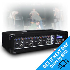PDM-C405A Active 4 Channel Powered USB Audio Mixer Amplifier PA Bluetooth Amp