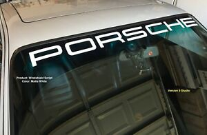 Windshield Banner Porsche Script Only, Vinyl Decal. Various Color/Size Available