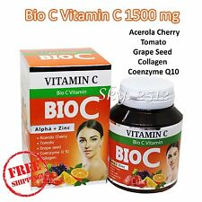 Bio C Vitamin C 1500mg Alpha+Zinc Whitening Anti Oxidant and Wrinkle 30 Tablets