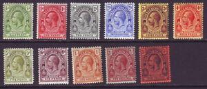Turks & Caicos Islands 1913 SC 25-35 MH Set