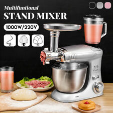 1000W 4L 6 Speed Stand Mixer Blender Meat Grinder Bread Kitchen Stainless