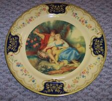Vintage Baret Ware Metal Display Plate, The Idyll, Made in England