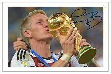 Bastian Schweinsteiger Alemania Copa Mundial firmaron autógrafos Foto De Fútbol