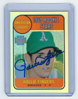 2001 ATHLETICS Rollie Fingers signed card Topps Archives Reserve #25 AUTO HOF RC