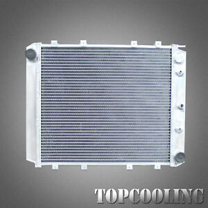 Fits Volvo 240 244 245 760 4Cyl 940/960 1979-1998 2 Rows Aluminum Radiator AT MT